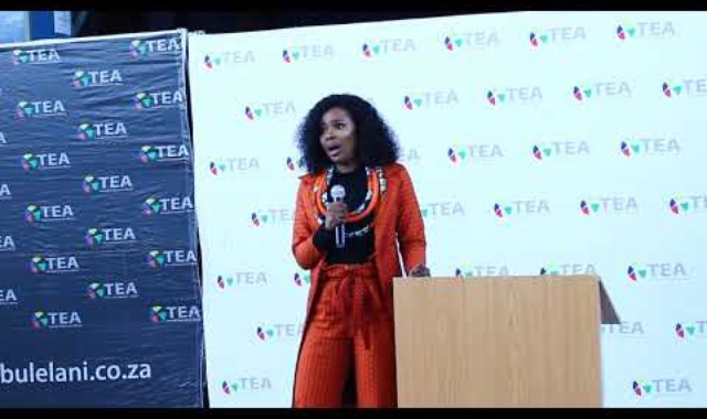 Boipelo Mabe speaking at #JoinUsForTEA